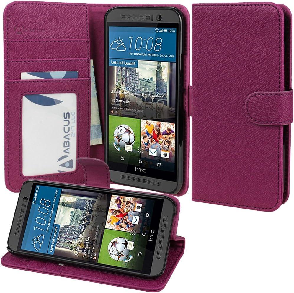 Funda HTC uno M9, abacus 24-7 HTC uno M9 regenerado funda para libro-estilo de la carpeta con soporte: Amazon.es: Electrónica