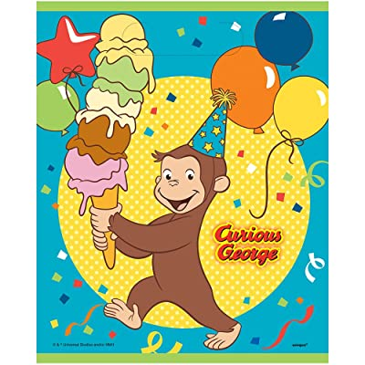 Unique Curious George Party Loot Bags, 8 Ct.: Toys & Games