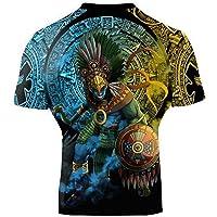 Raven Fightwear Gods of Mesoamerica Huitzilopochtli Rash Guard Men's Camisa de Compresión Manga Larga Hombre Artes…