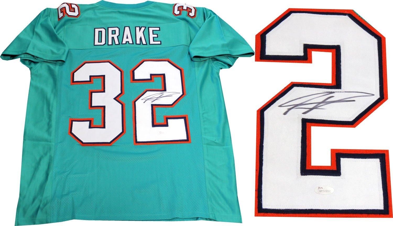 cdd437a6 Kenyan Drake Autographed Miami Dolphins Custom Jersey (JSA) at ...