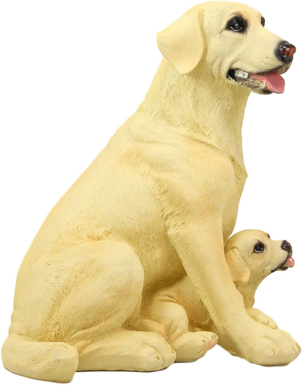 "Ebros Lifelike Buddy Golden Retriever Statue 20.5/"" Tall With Glass Eyes"