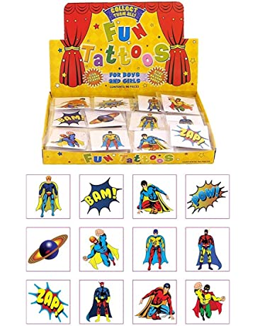 511e328ed Henbrandt 24 Kids Super Hero Tattoos, Multi