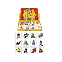 Henbrandt 24 Kids Super Hero Tattoos, Multi