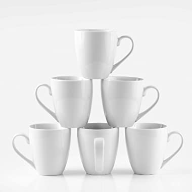 Amuse- Professional Barista Cozy Collection  Mug for Coffee or Tea- Set of 6 (Large- 16 oz.)