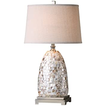 Amazon uttermost 26505 capurso capiz shell table lamp home uttermost 26505 capurso capiz shell table lamp aloadofball Image collections