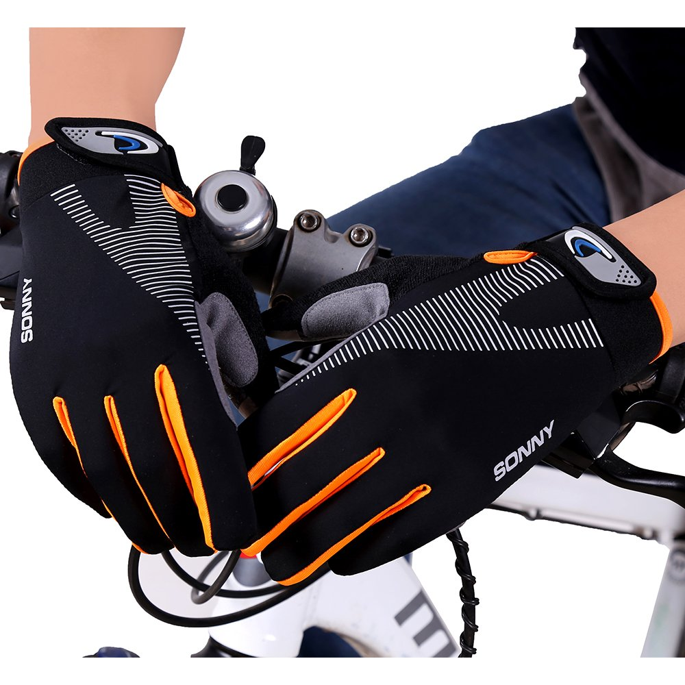 Baiyu Cycling Gloves Skidproof Touchscreen Thin Sports Gloves Unisex Spring Summer Outdoor Sunscreen Gloves Mittens Adjustable Bike Riding Full Finger Gloves
