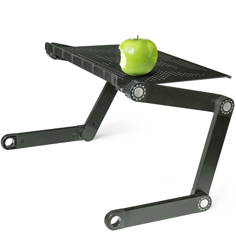 Wonder Worker Newton Table de Lit Ordinateur Portable Pliante Aluminium Léger Noir COMINHKPR100184