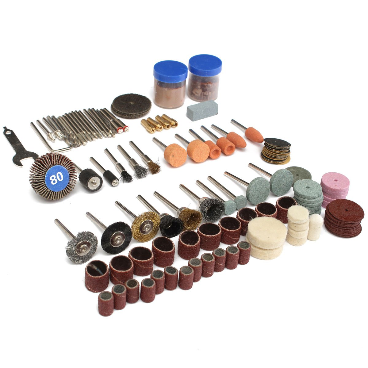 Kamas 136pcs Rotary Tool Accessories Bit Set Polishing Kits Polishing Wheel for Dremel