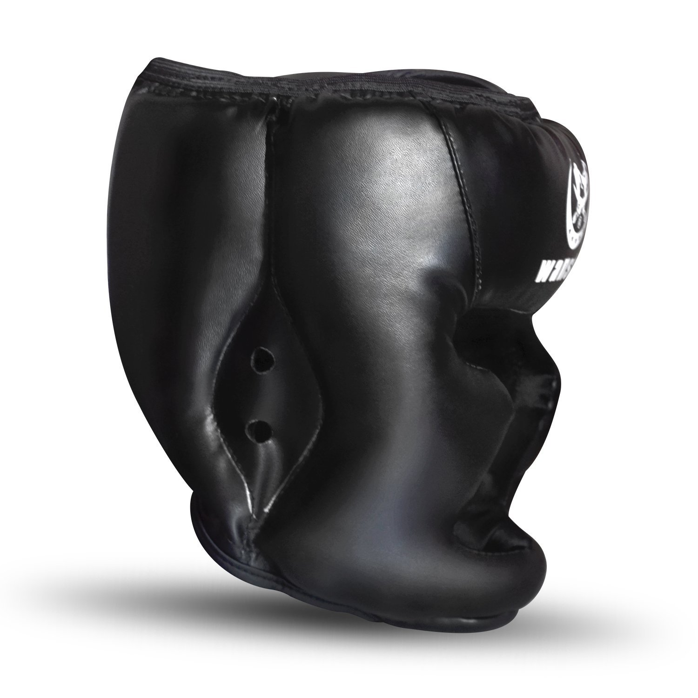 UFC Fighting Head Guard Sparring Helmet SANJOIN Boxing Headgear Black Synthetic Leather MMA Headgear