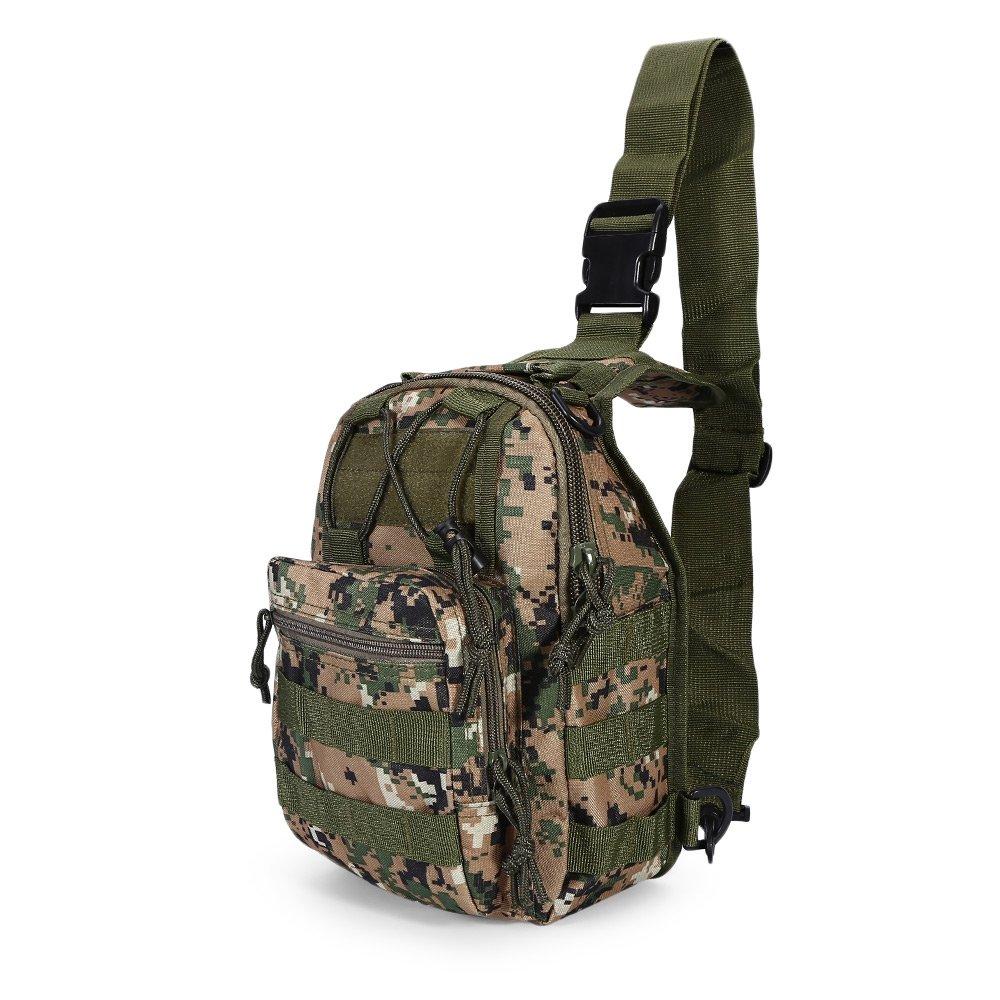 Messenger Bag Tactical Camping Travel Hiking Trekking Backpack Shoulder Bang Outdoor Assault Sling Jungle Camouflage