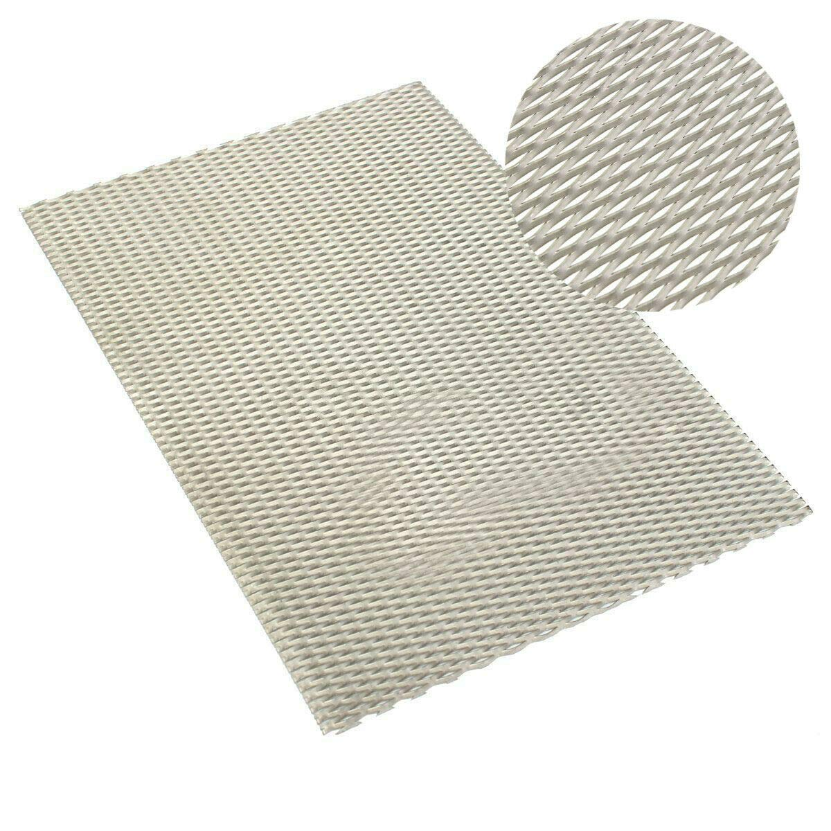 Manoch Titanium Metal Grade Mesh Perforated Diamond Holes Expanded 300x200x0.5mm Titanium Mesh Levels: Aerospace, Shipbuilding, Chemical Machinery, High-Temperature Vacuum Equipment, Power US Stock by Manoch