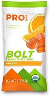 product image for PROBAR - Bolt Organic Energy Chews, Orange, Non-GMO, Gluten-Free, USDA Certified Organic, Healthy, Natural Energy, Fast Fuel Gummies with Vitamins B & C (12 Count)