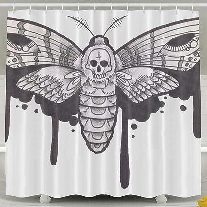Amazon Deaths Head Moth Fashion Shower Curtain Deluxe