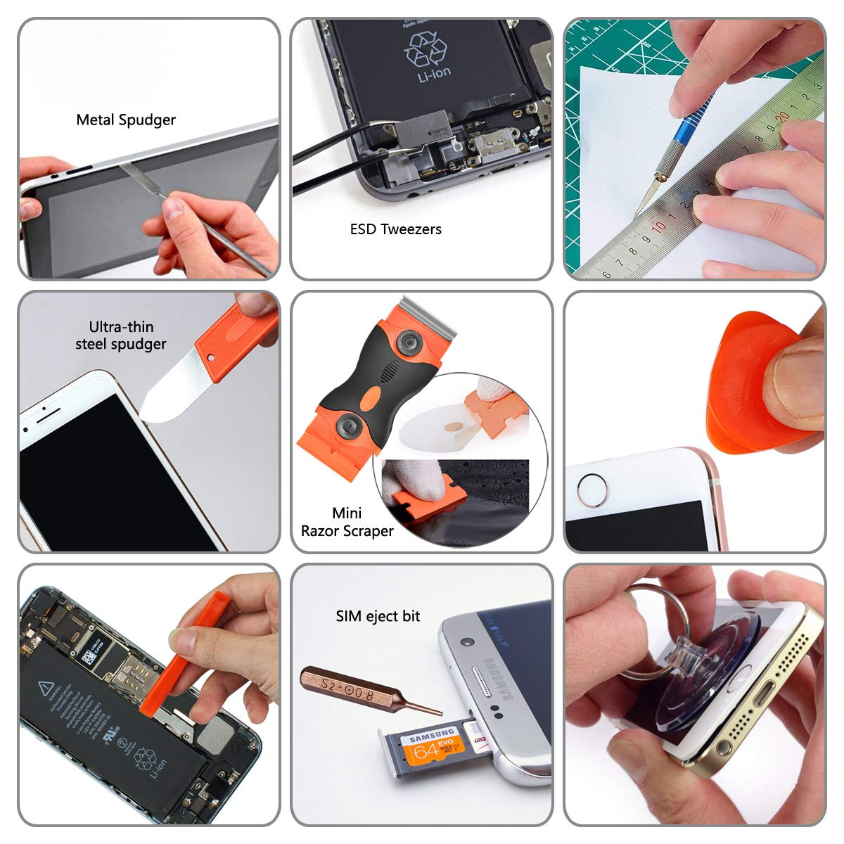 96 in 1 Screwdriver Set Precision,Full Electronic Repair Tool Kit Professional,S2 Steel for Fix iPhone/Computer/Mobile Phone/iPad/MacBook/Laptop/Watch/Game Console DIY Pry Open Replace Screen by GANGZHIBAO (Image #6)