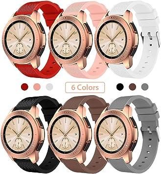 Sundaree Compatible con Correa Galaxy Watch 42MM/Galaxy Watch Active2,6 Colores Silicona Reemplazo Correa 20MM Banda Pulsera de Repuesto Correa para Samsung Galaxy Watch Active2 40mm/44mm(42MM): Amazon.es: Electrónica