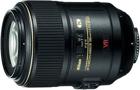 Nikon 2160 AF-S VR Micro Nikkor 105mm f/2.8g IF-ED Lens, Black