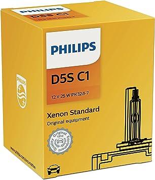 Philips Xenon Standard 12410C1 bombilla para coche D5S 25 W - Bombilla para coches (25 W, D5S, Xenon, 4200 K): Amazon.es: Coche y moto