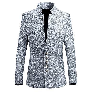 Shujin Herren Modern Business Sakko Revers Blazer Anzug Jacke DREI Knopf  Männer Elegant Freizeit Anzugssakko Hochzeit 8ab71f0975