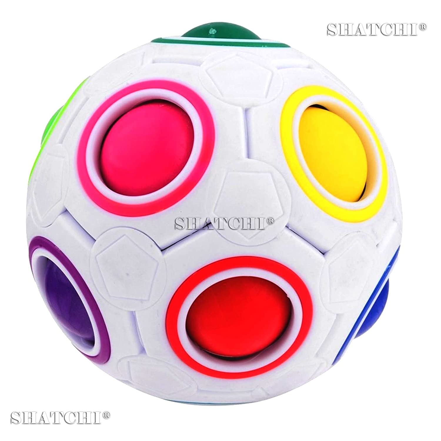 1pcs Fidget Ball Rainbow Magic Puzzle Cube Fidget Fun Toy Birthday Gifts Fun Toy Shatchi