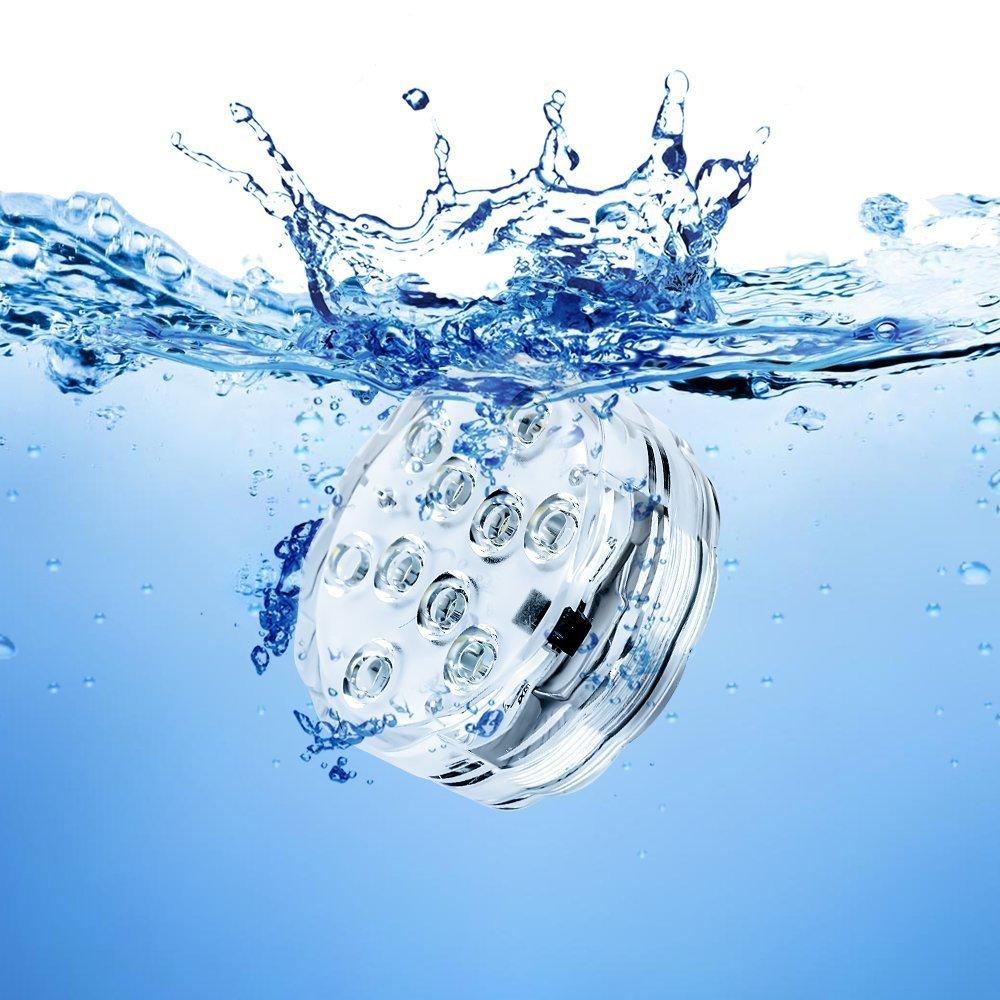 BXROIU Submersible Unterwasser Licht mit Fernbedienung 4er,Multi Farbwechsel Wasserdichte LED Leuchten Teichbeleuchtung für Aquarium, Bar, Badewanne, Blumenvase, Pool, Teich Dekoration