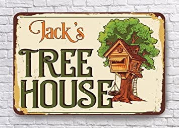 Custom árbol casa signo, personalizable de casa del árbol ...
