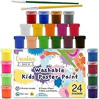 Creative Deco Temperas Pintura Lavable de Dedos Niños