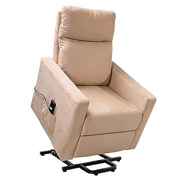 Wohnzimmer Liege   Amazon De Power Lift Stuhl Komfort Liege Sessel In Wildleder Stoff