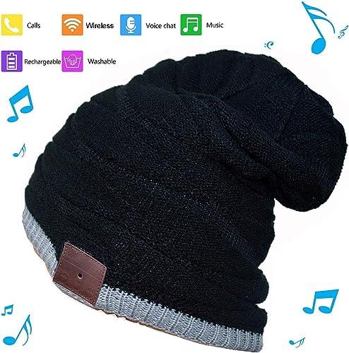 BGJOY Music Hat Wireless Beanie Smart Hat Built-in Stereo Speaker Mic Wireless Headphones Beanie Sync Call Music