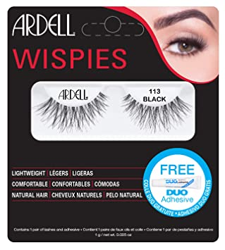 82f6bae7854 Ardell Lashes Wispies 113 with Free DUO Glue: Amazon.co.uk: Beauty