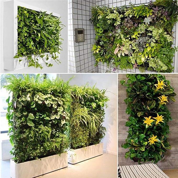 Ducomi jardín Vertical - macetas de Pared para decoración - Porta Plantas diseño Modular para Colgar en Pared - Exterior E Interior - Columna de Flores ...