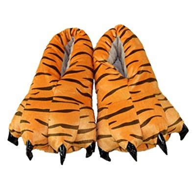 Akanbou Cosplay Monster Paw Plush Slippers Monster Feet Claw Slippers Home Shoes | Slippers
