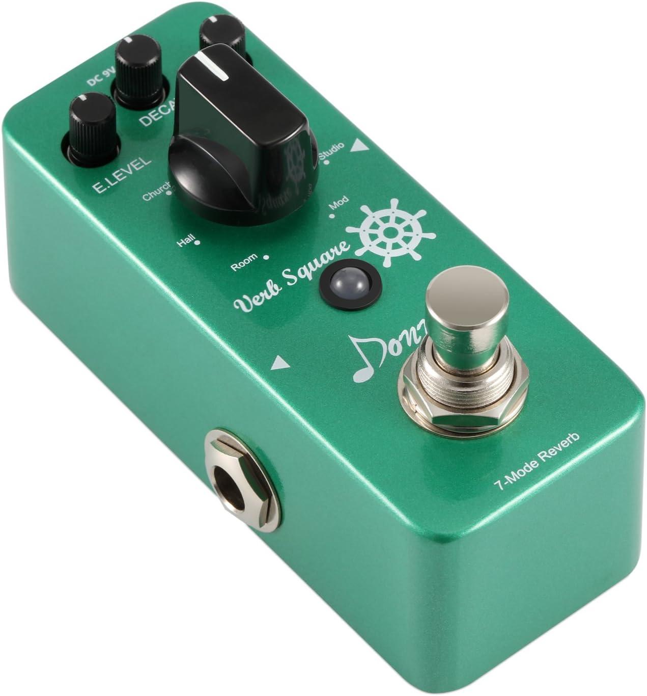 Donner Verb Square 7- Pedal Efecto de Reverberación de Guitarra Con 7 Modos