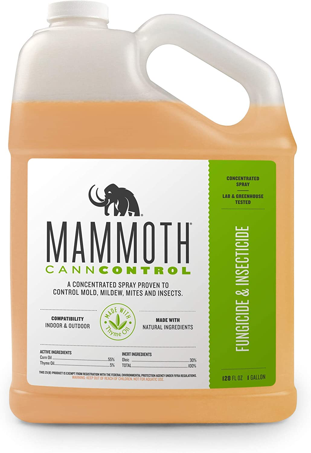Mammoth CANNCONTROL Concentrated Insecticide Spray for Plants, Organic Pesticides for Vegetable and Spider Mites Spray for Indoor Outdoor Plants (1 Gal)