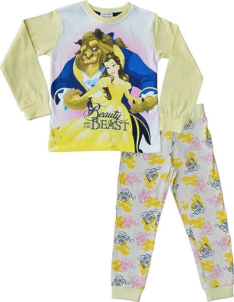 La bella y la Bestia Pijama Niña PJs Ropa de dormir Edades de 2 a 9