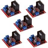 Anmbest 5PCS L298N Dual H Bridge DC Stepper Motor Driver Controller Board Module for Arduino Smart Car UNO R3 Raspberry Pi Mega2560