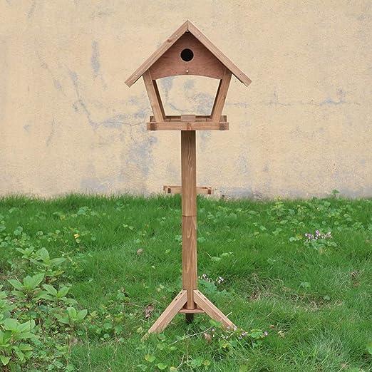 Llsdls Mangeoire à Oiseaux Jardin Extérieur en Bois Massif ...