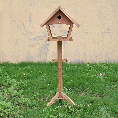 LSXLSD Mangeoire à Oiseaux Jardin Extérieur en Bois Massif ...