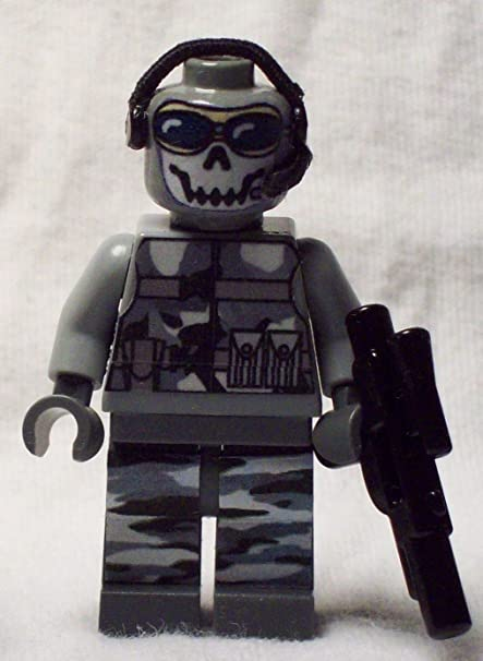 Amazon Com Custom Lego Call Of Duty Ghost Minifigure 2012 Minifig Figure Black Ops Modern Warfare 3 2 Toys Games