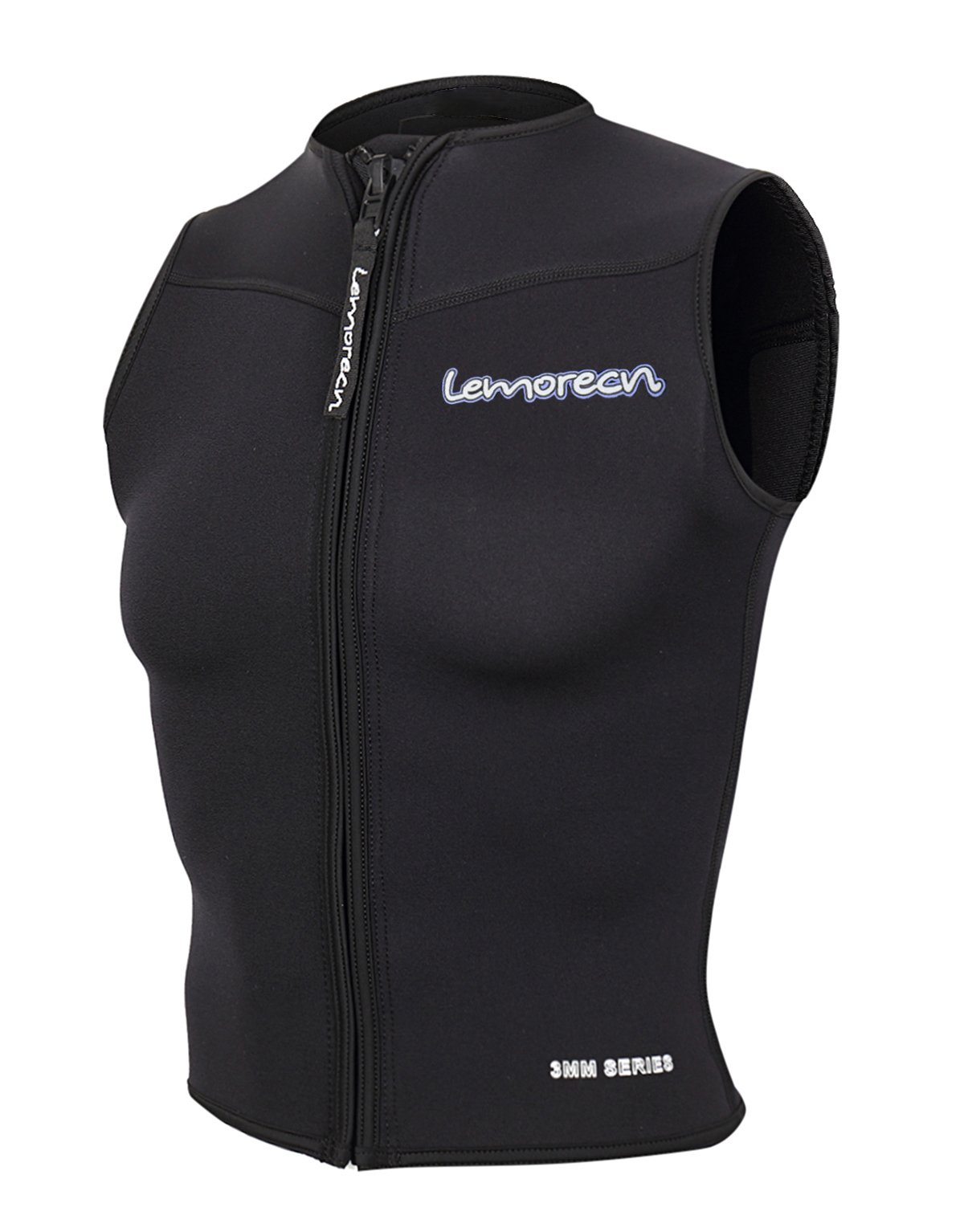 Lemorecn Women Wetsuits Top Premium Neoprene 3mm Zipper Diving Vest (2097black8) by Lemorecn
