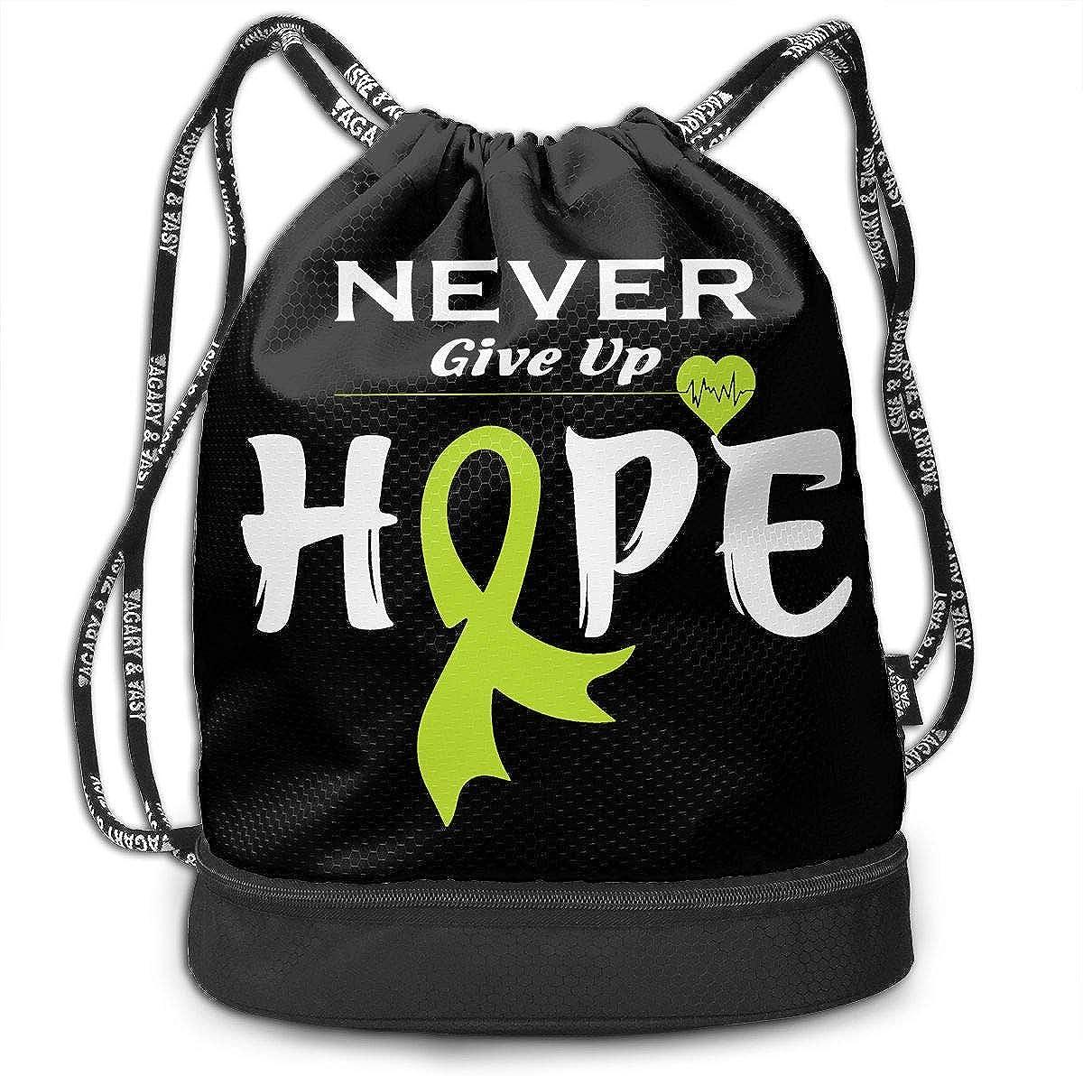Lymphoma Awareness-1 Drawstring Bag Multifunctional String Backpack Custom Cinch Backpack Sport Gym Sack