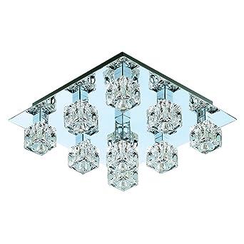 Moderno fresco hielo Cubito de hielo 9 luz lámpara de techo ...