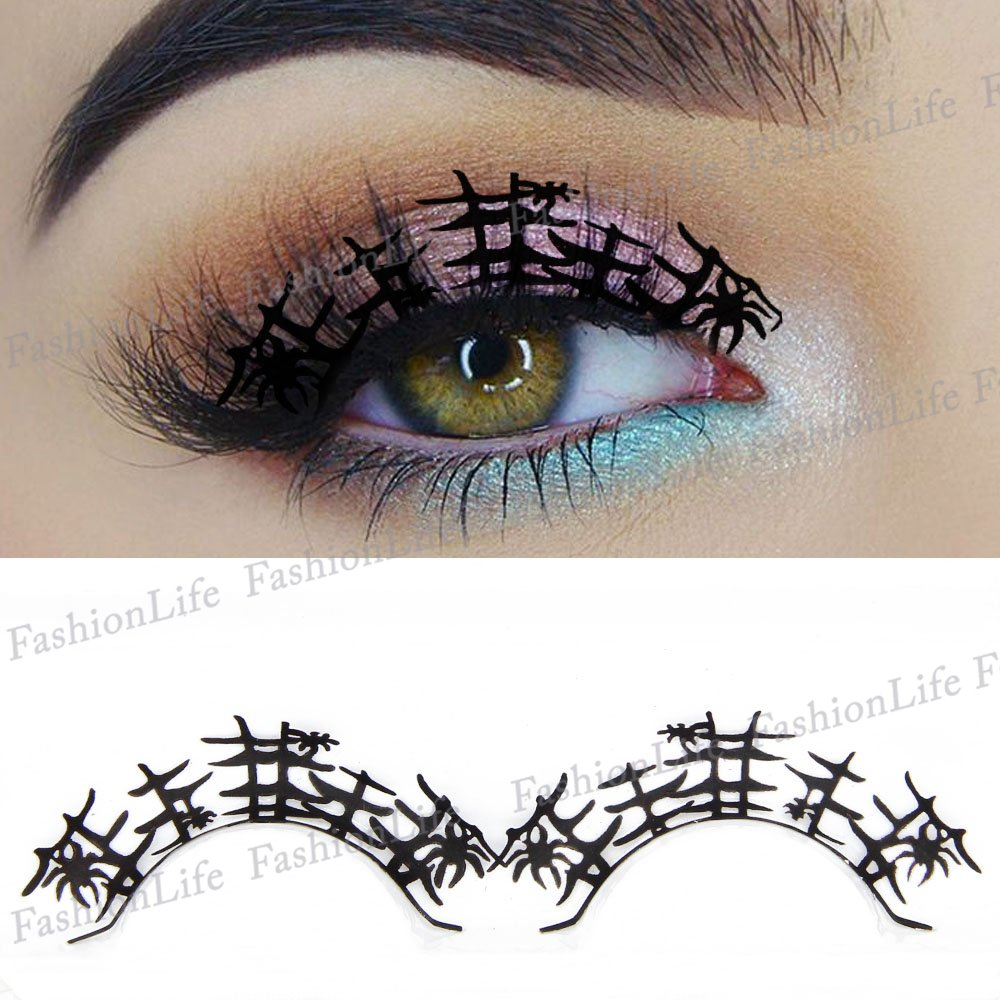 7eace224745 Party Eyes Temporary Lace Tattoo Lace False Eyelashes Halloween Make-Up  Stickers Halloween - ETP283 Sticker Tattoo - FashionLife: Amazon.co.uk:  Beauty