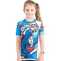 Fusion Superman Krunch Kids Rash Guard- Short Sleeve