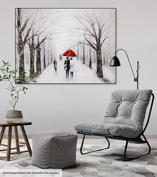 Kunstloft® Cuadro en acrílico Beso en la Nieve 100x75cm ...