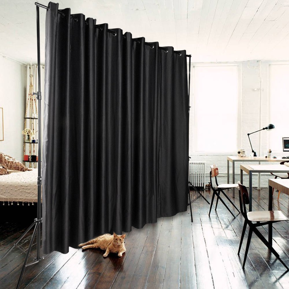 office devider. Xmas PROMO ONXO Room Divider Curtain Total Privacy Office Multifunctional - Stand Not Included(9\u0027x10\u0027, Black) Devider