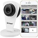 Video Camera di Sorveglianza Sricam 720p HD IP WIFI Wireless Onvif PnP 25fps IR-CUT 8M Modalità Notturna Bidirezionale Rilevamento di movimento Allarme Compatibile con Smartphone IOS e Android