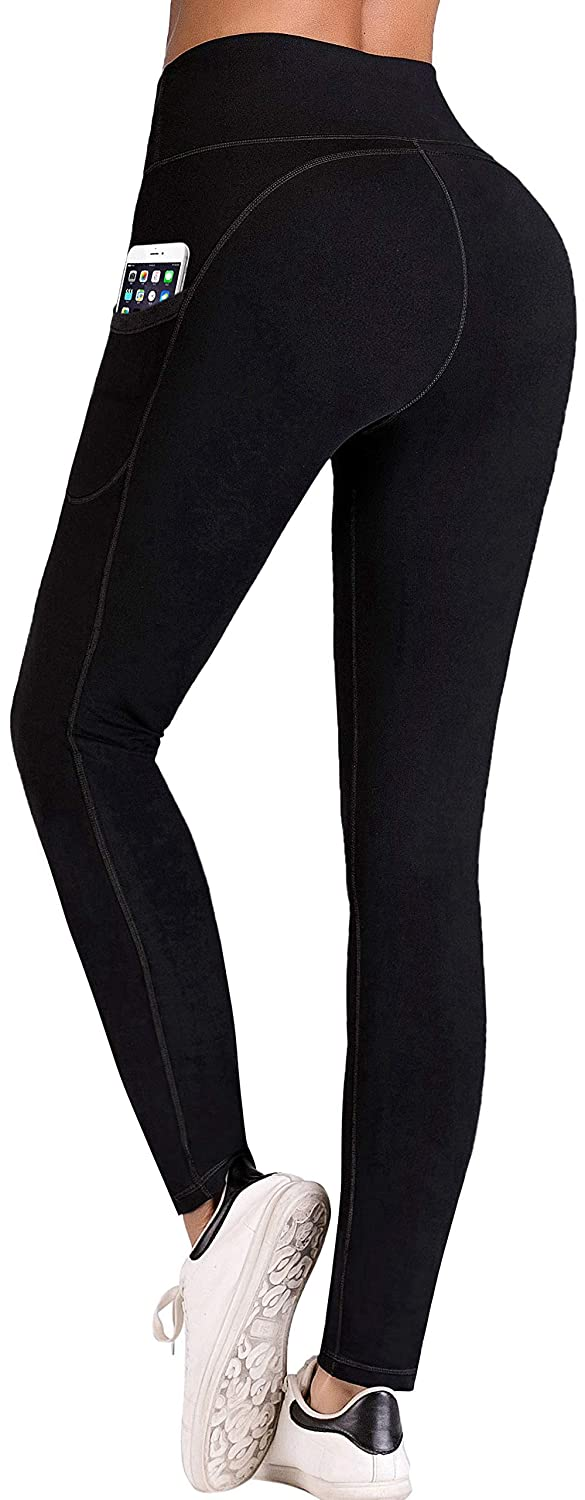 IUGA High Waist Yoga Pants with Pockets Tummy Control Workout Pants for Women 4 Way Stretch Yoga Leggings with Pockets
