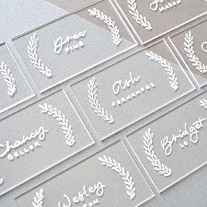 UNIQOOO 20pcs Clear Acrylic Place Cards for Wedding – Blank Rectangle Acrylic Escort Plates Name Cards - Perfect for Seating Cards,Table Card,Food Sign, Party, Banquet & Event Decoration - 3 1/2 x 2in