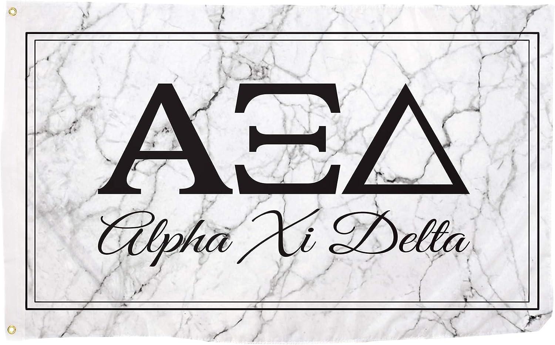 Alpha Xi Delta Marble Box Letter Sorority Flag Banner 3 x 5 Sign Decor Alpha zee - Marble Box