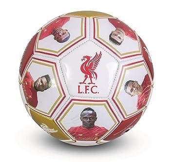 Liverpool FC - Balón oficial - Con firmas y fotos de jugadores - Talla 5